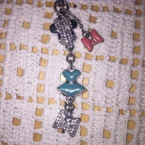 Swarovski Minnie Mouse Phone Charm and Keychain